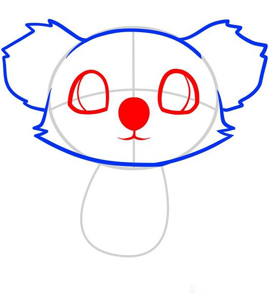Как нарисовать коалу поэтапно