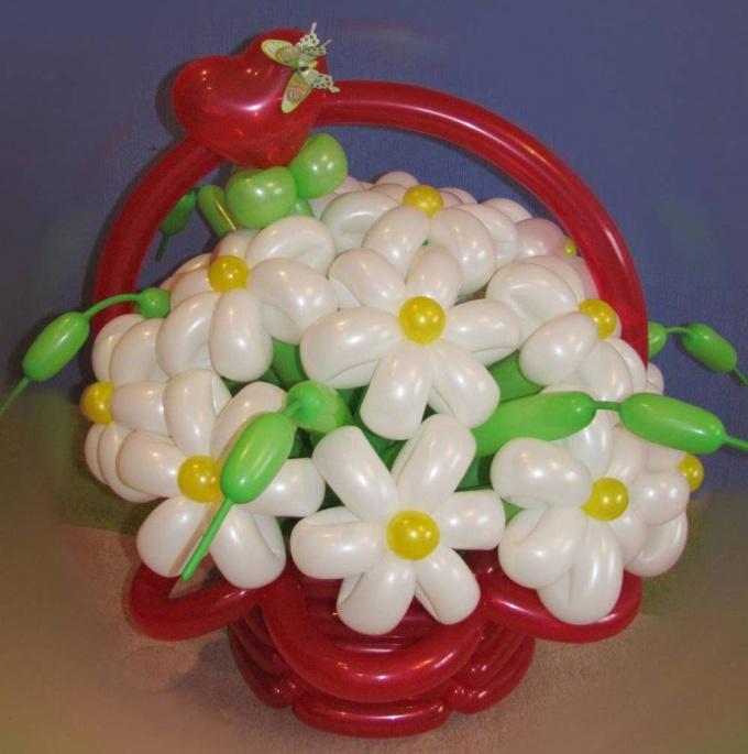 Как сделать ромашку из шаров для моделирования