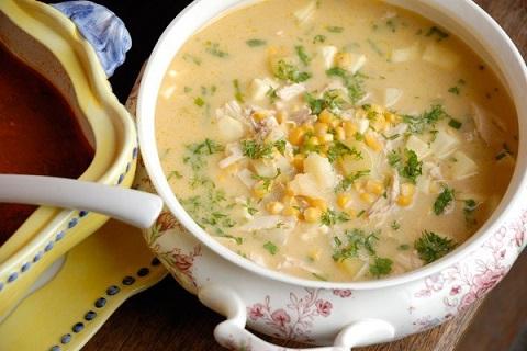 Молочный суп чупе по‑аргентиски