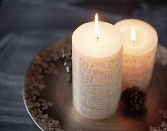Как сделать свечу с пожеланием