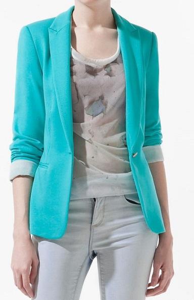 Голубой пиджак: с чем сочетать?