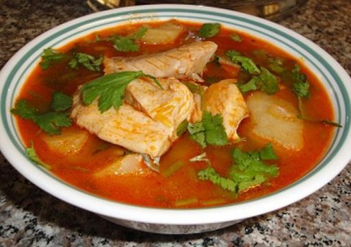 Испанский рыбно-апельсиновый суп
