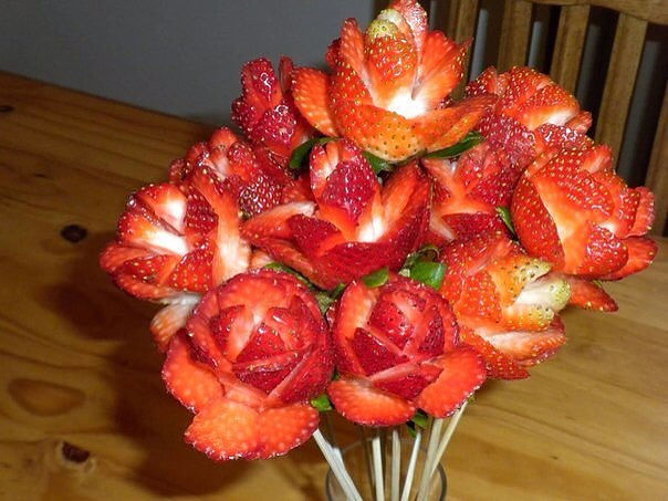 A bouquet of strawberries