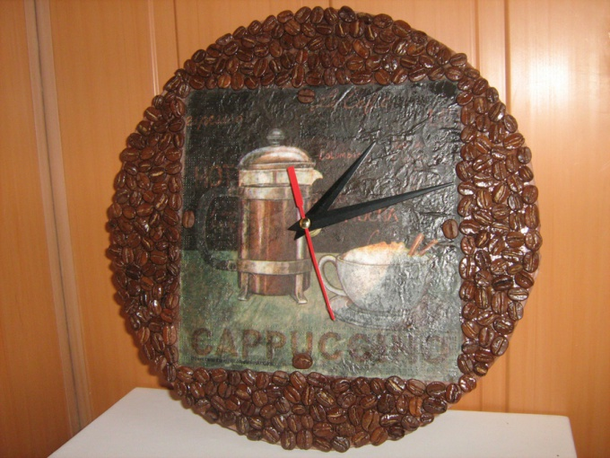 Как сделать часы из кофейных зерен