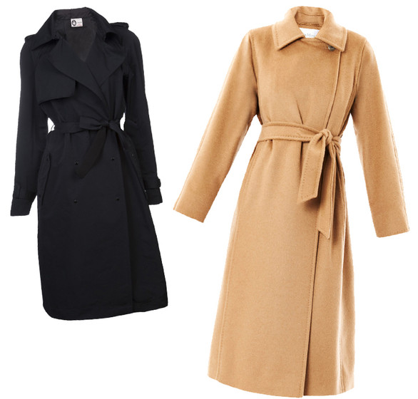 С чем носить пальто с запахом