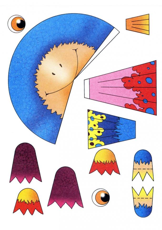 Как сделать из бумаги игрушку Ворону