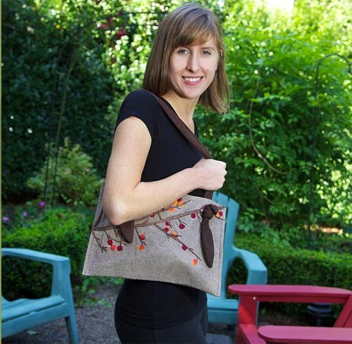 Как сшить сумку из скатерти