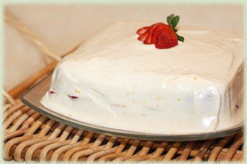 Творожный крем для торта