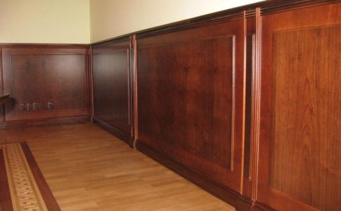 Обшивка стен деревянными панелями