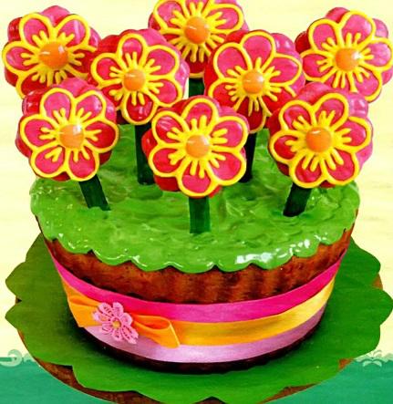 """Пасхальный кекс """"Цветы в горшочке"""""""