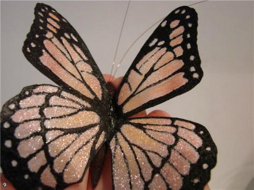 Unusual butterfly organza