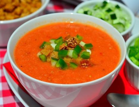 Как приготовить холодный испанский суп гаспачо
