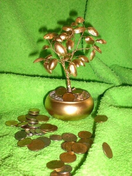 Как сделать денежное дерево из фисташек