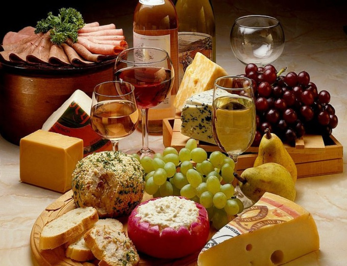 What to drink: wines: dry red and white semi-sweet