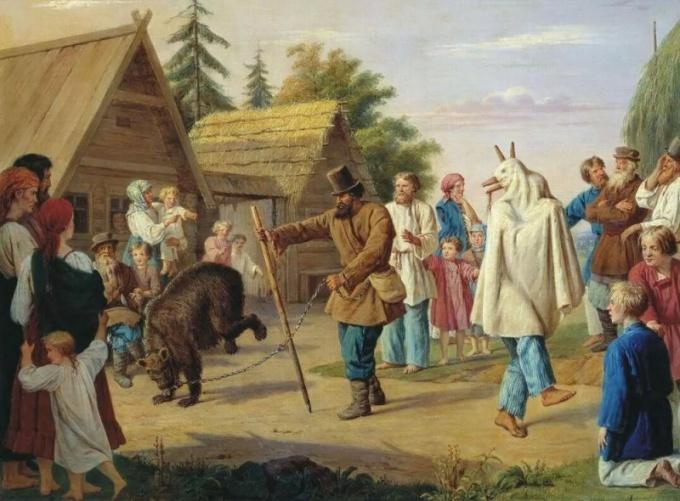 В Старинной Руси челядь была фактически на одном ярусе с звериными