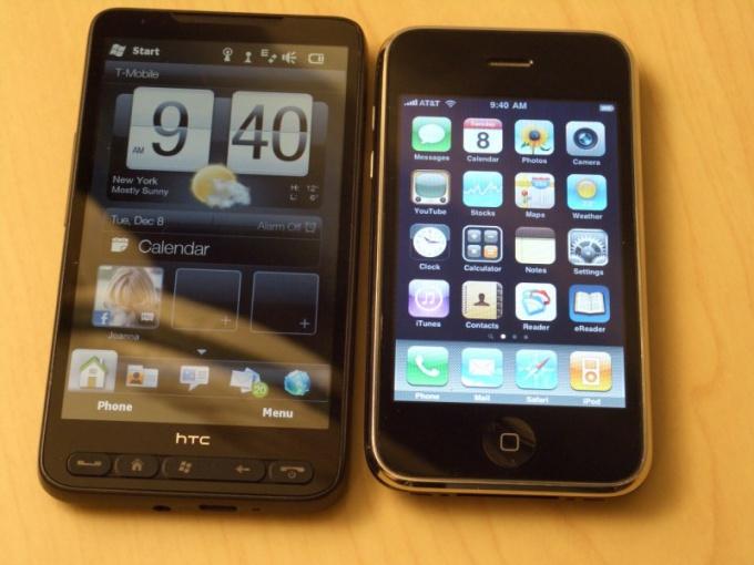 Что лучше: iphone или htc?