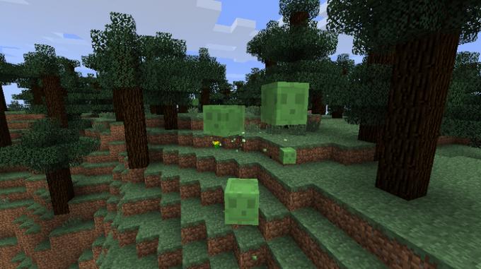 Как найти слизней в minecraft