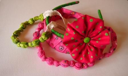 Как сделать украшения из ткани для девочек своими руками
