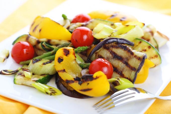 Как вкусно приготовить овощи на гриле