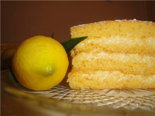 Как приготовить лимонный бисквит