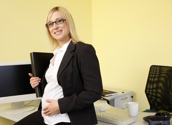 What benefits at work end with the pregnancy