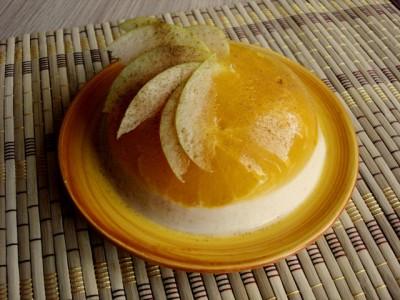 Рисовое желе с мандаринами