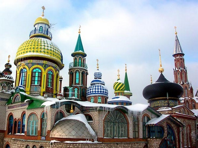 The temple of all religions in Kazan