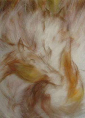 Как сделать картину из сухой шерсти