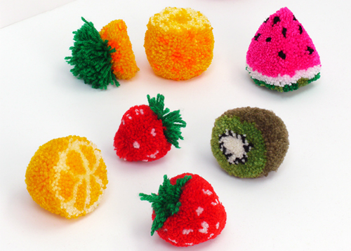 Как сделать фруктовые помпоны