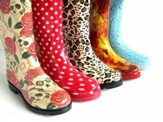 Модные резиновые сапоги