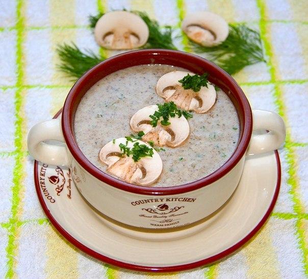 Кремовый суп с шампиньонами рецепт
