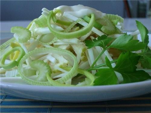 Как приготовить салат из корня сельдерея