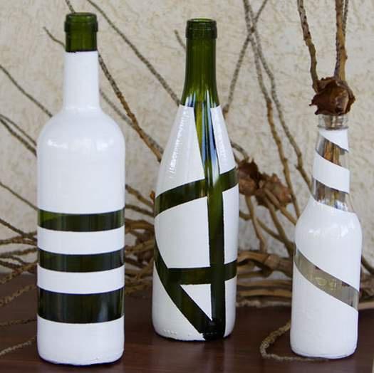 Как смастерить из стеклянной бутылки вазу