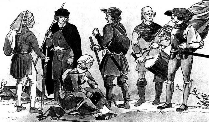 Гравюра. Сословия 18 века. Европа.
