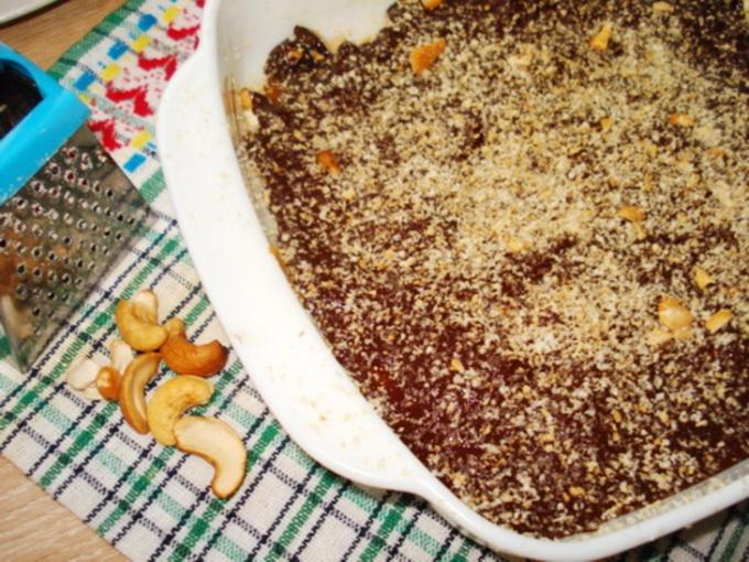 Кофейно-шоколадные ириски с орехами