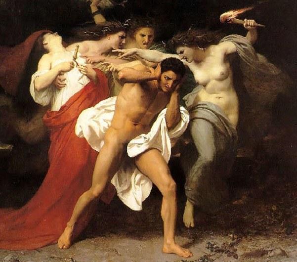 Эринии преследуют Ореста