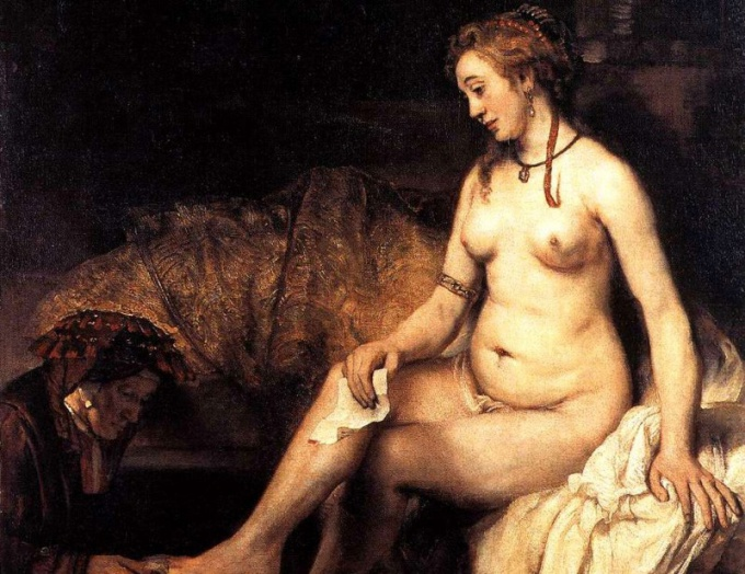 Рембрандт, Обнаженная, фагмент