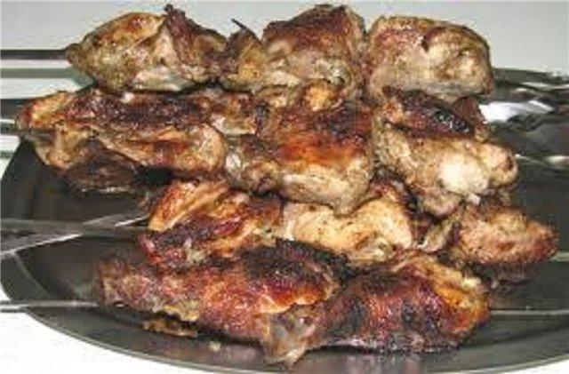 Рецепты шашлыка из курицы