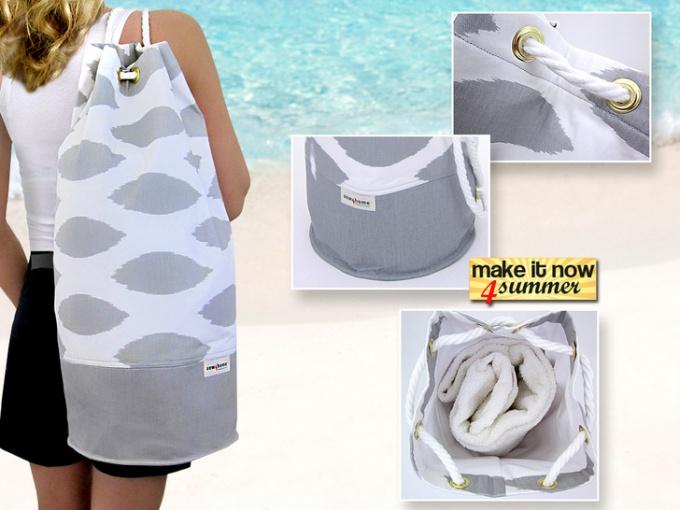 Как сшить пляжный рюкзак