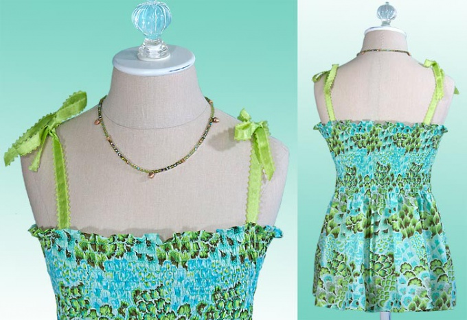 How to sew a top with ruching