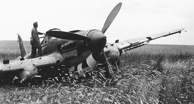 Downed Il-2 from the Germans.