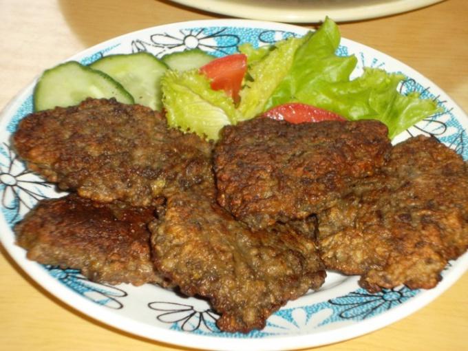 Оладьи из печени говяжьей рецепт с фото