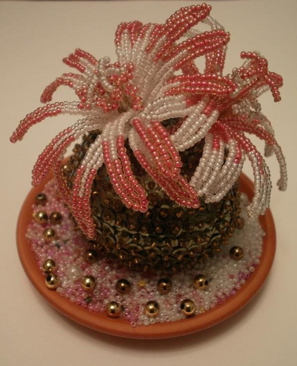 Изготовление цветка кактуса