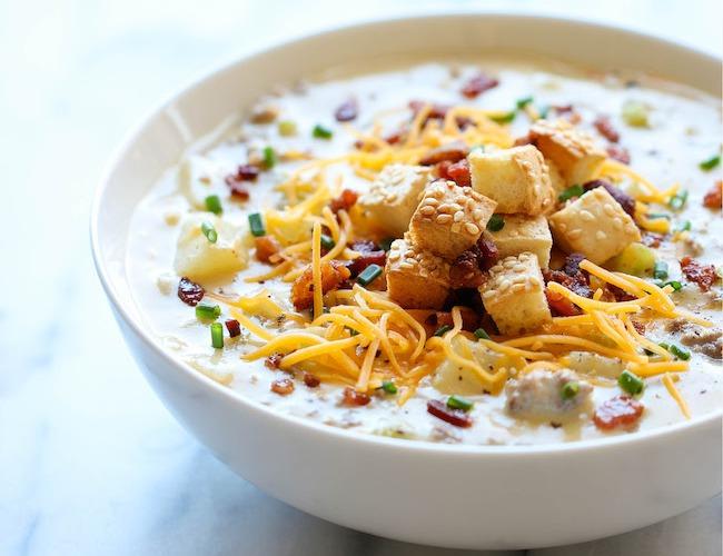 Как приготовить густой суп с сыром