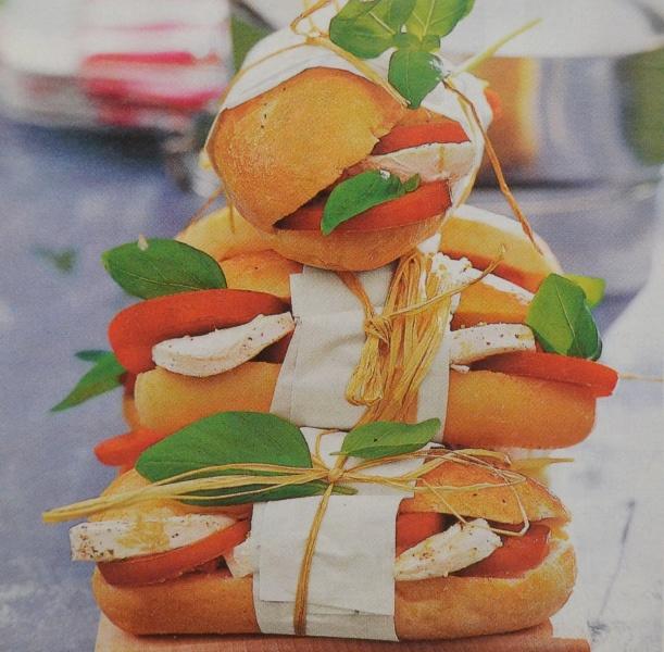 Сэндвичи с моцареллой