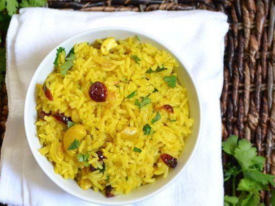 Как приготовить рис с кешью