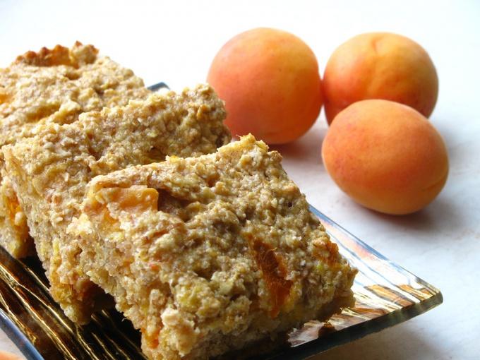 Овсяные квадратики с абрикосами