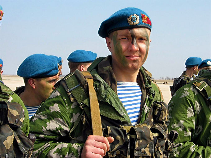 Blue beret is one of the symbols of the airborne troops and special forces