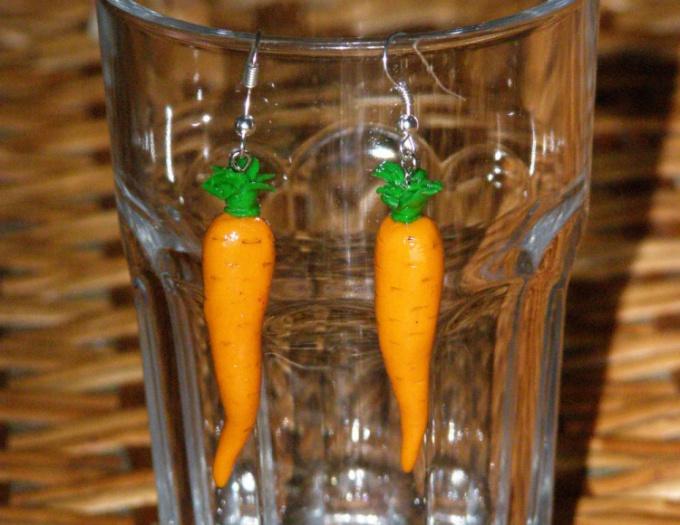 Как сделать морковку из полимерной глины