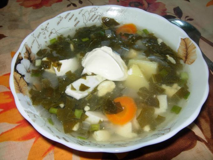 Простой рецепт низкокалорийного супа из щавеля: